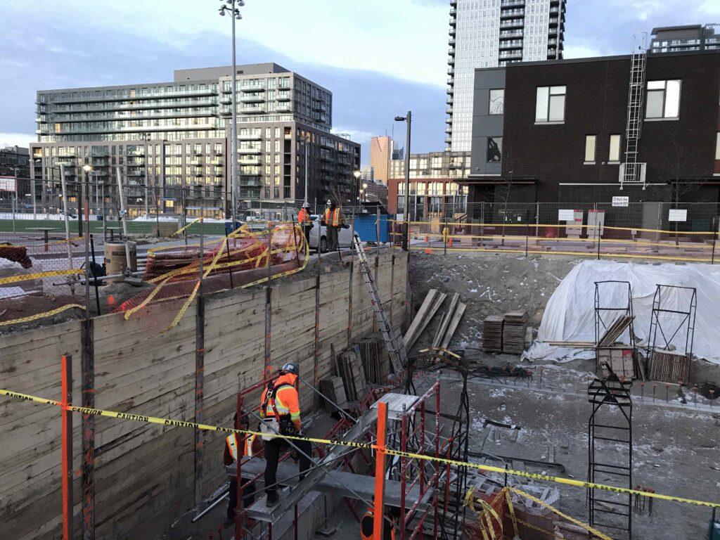 a photo of Dixon Halll's youth centre construction progress