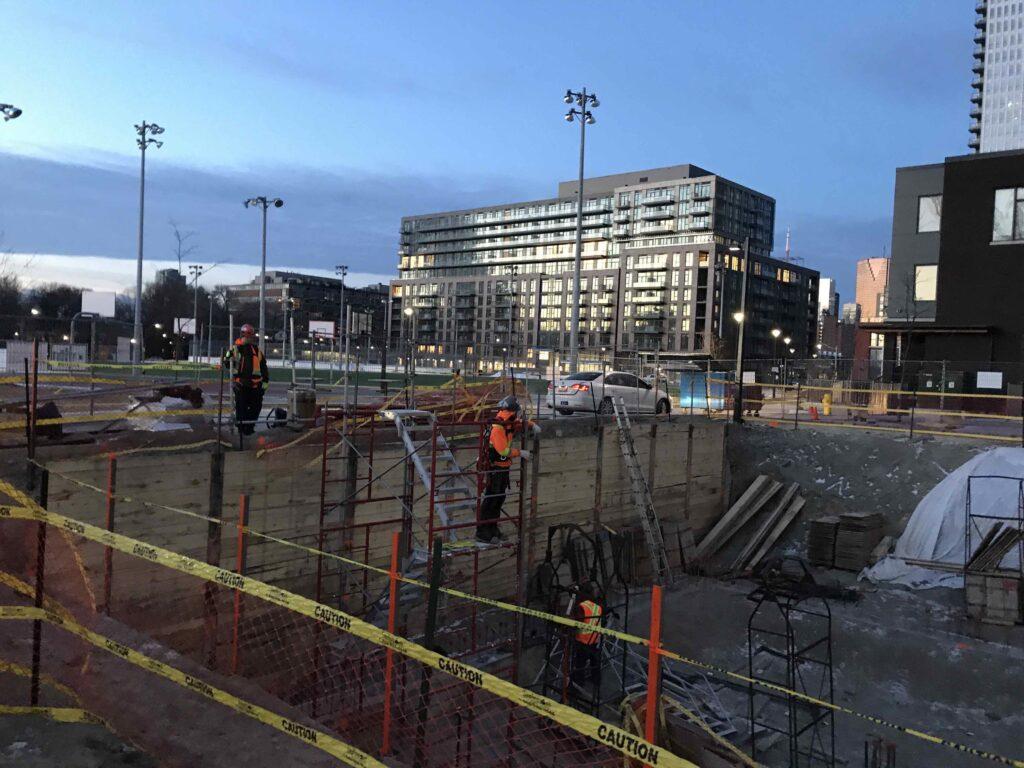 a photo of Dixon Hall's youth centre construction progress