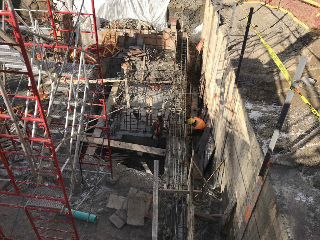 construction progress photo on Dixon Hall's youth centre