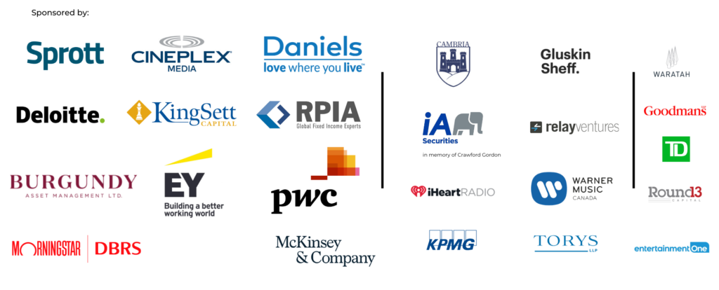 logos of corporate sponsors for the music for life event
