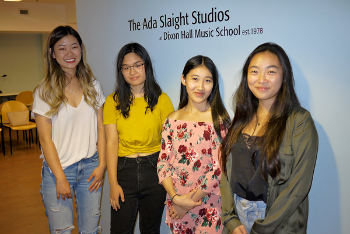 Four students from the Ada Slaight Studios